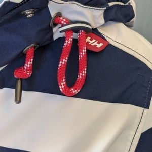 Helly Hansen Jackets & Coats - Nautical Striped Helly Rainjacket
